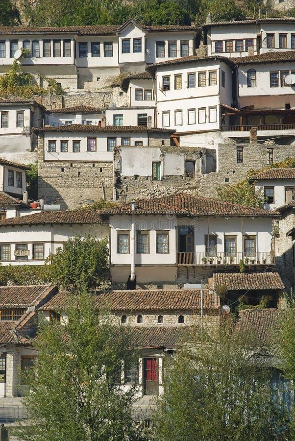 培拉特老镇在阿尔巴尼亚 库存图片