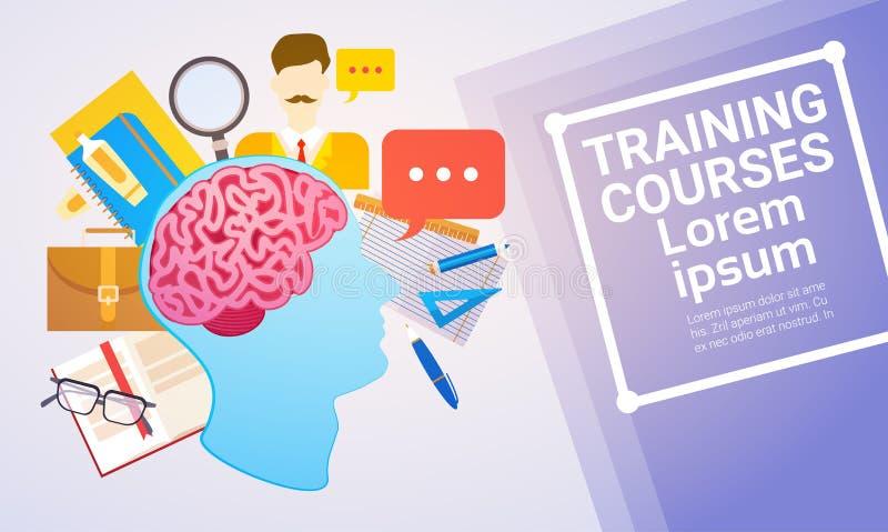 培训班教育网上学习的网横幅 库存例证