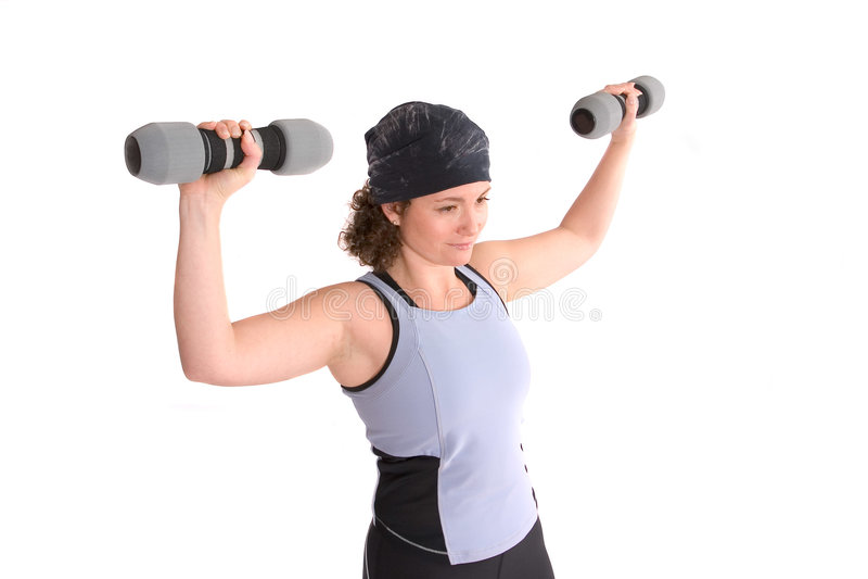 培训重量 免版税库存照片