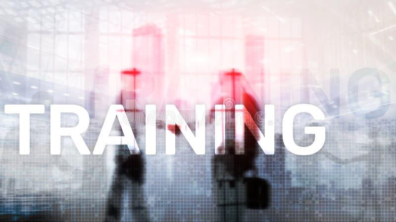 培训 私有的发展 事务和教育,电子教学概念 库存例证