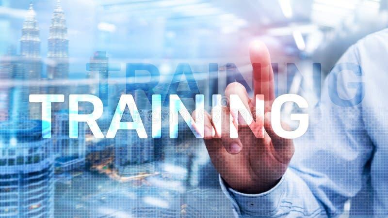 培训 私有的发展 事务和教育,电子教学概念 免版税库存照片