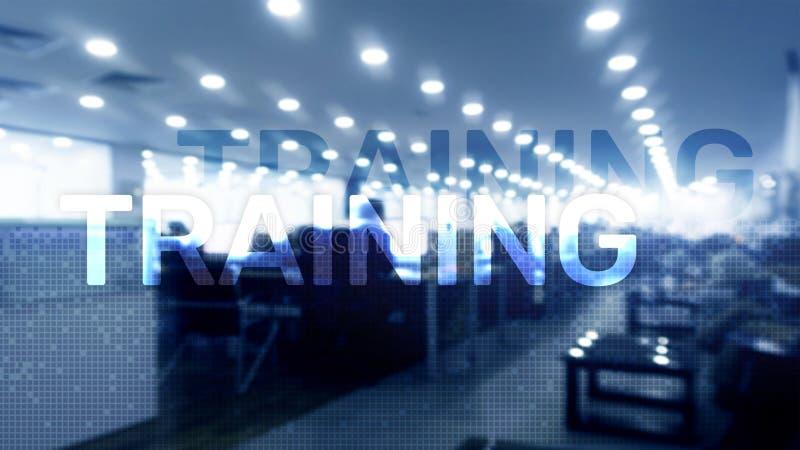 培训 私有的发展 事务和教育,电子教学概念 图库摄影