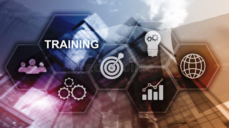 培训 私有的发展 事务和教育,电子教学概念 向量例证