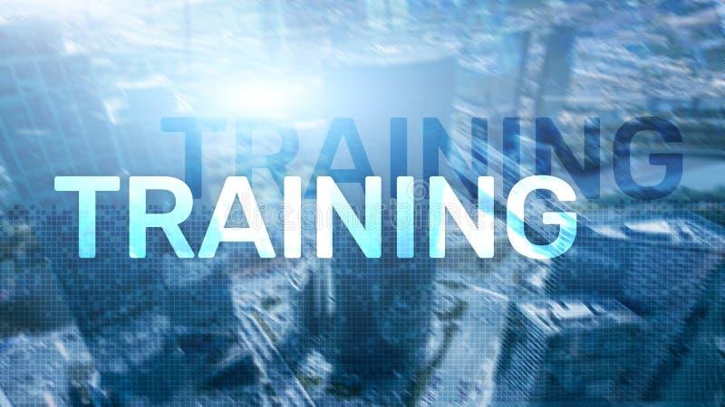 培训 私有的发展 事务和教育,电子教学概念 免版税库存图片
