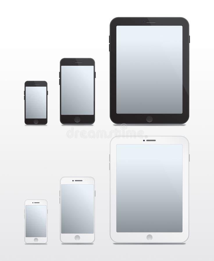 基于苹果计算机的电话和片剂-传染媒介 图库摄影