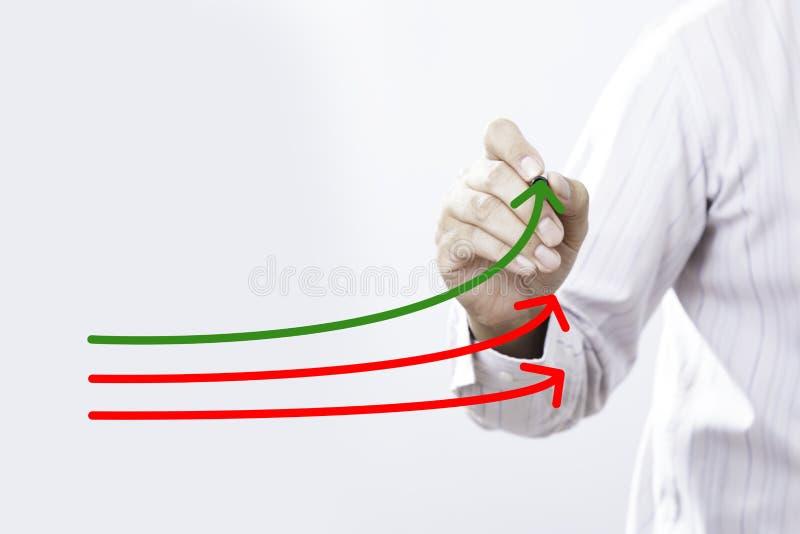 基准点和市场带头人概念 经理商人, co 免版税库存图片