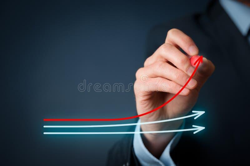 基准点和市场带头人 免版税库存图片