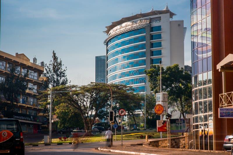 基加利,卢旺达- 2018年9月21日:Ubumwe重创的旅馆观看了 库存照片