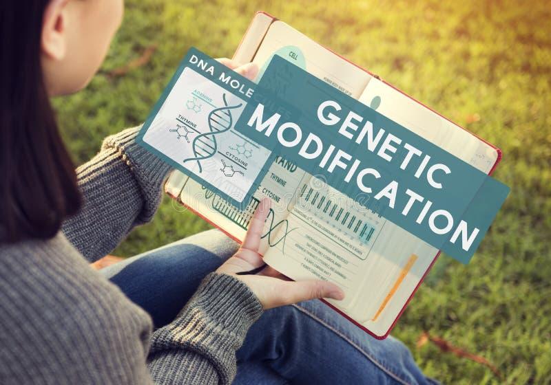 基因变化修改生物化学概念 免版税库存照片