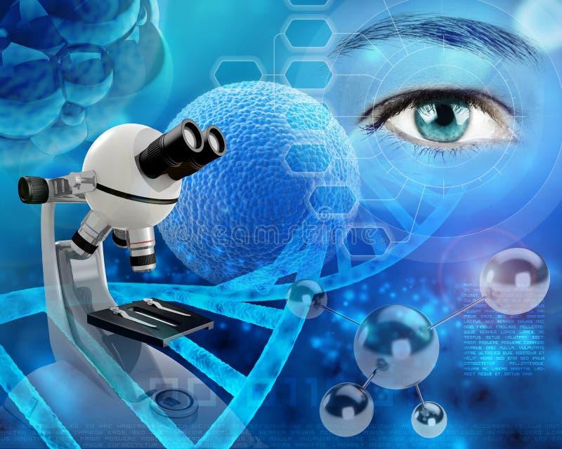 基因研究 库存例证