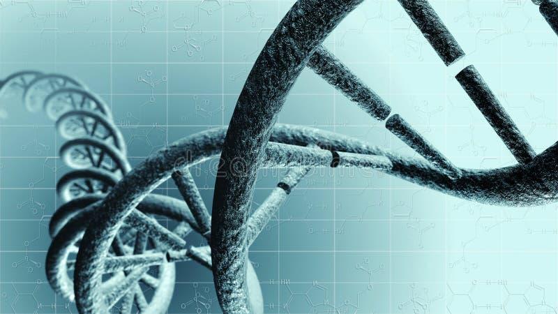 基因脱氧核糖核酸 皇族释放例证