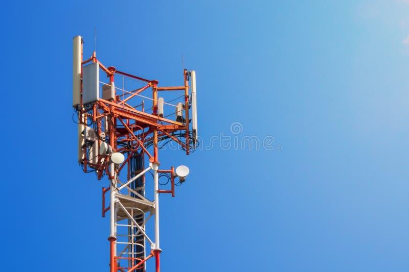 基地网络操作员 5G 4G, 3G机动性技术 免版税库存照片