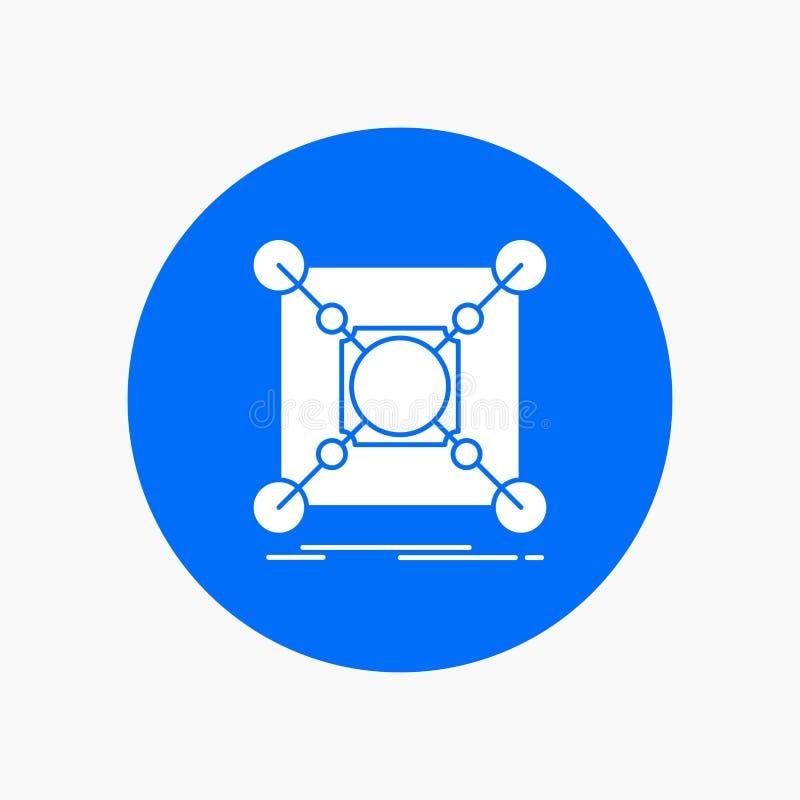 基地,中心,连接,数据,在圈子的插孔白色纵的沟纹象 r 皇族释放例证