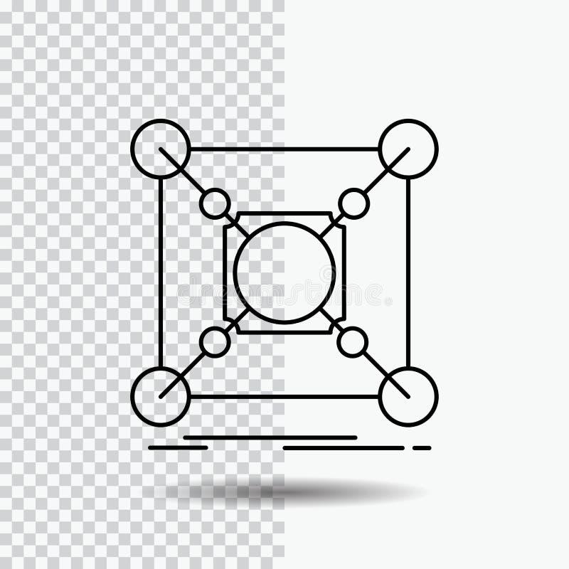 基地,中心,连接,数据,在透明背景的插孔线象 r 皇族释放例证