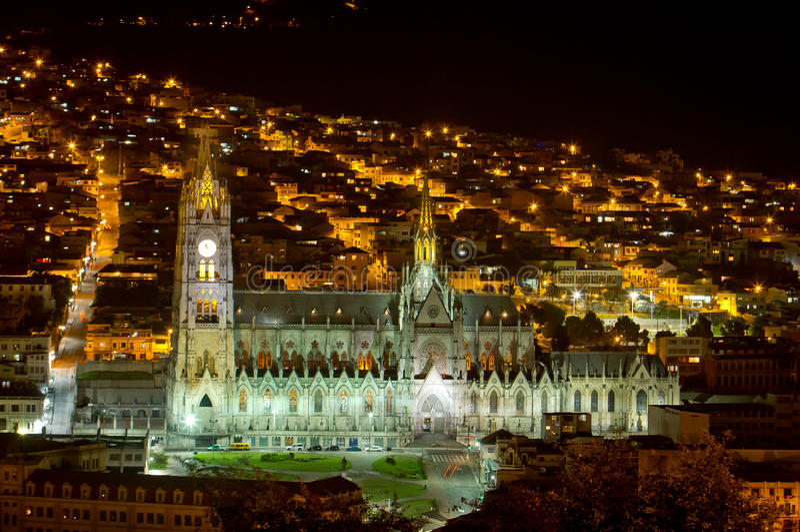 基多,厄瓜多尔大教堂。 免版税库存图片