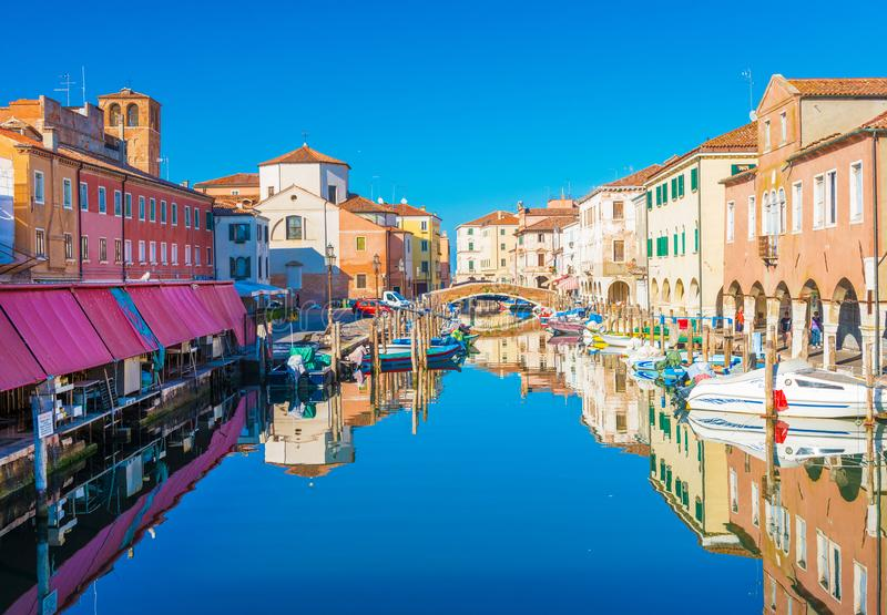 基奥贾,意大利:基奥贾都市风景  免版税库存图片