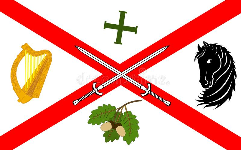 基尔代尔郡旗子是一个县在爱尔兰 库存例证