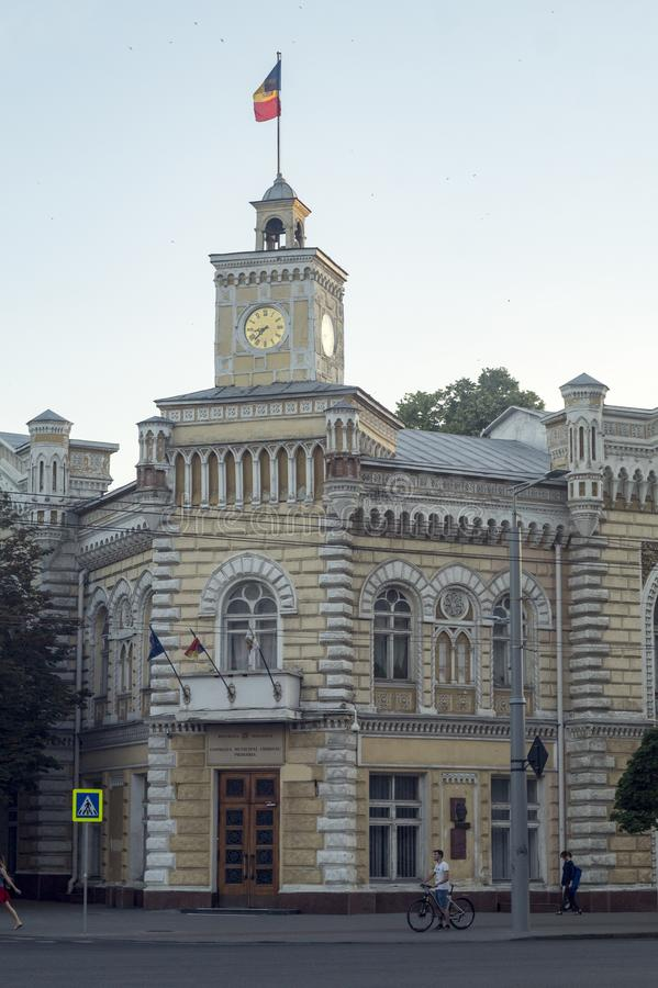 基希纳乌市政厅 免版税库存图片