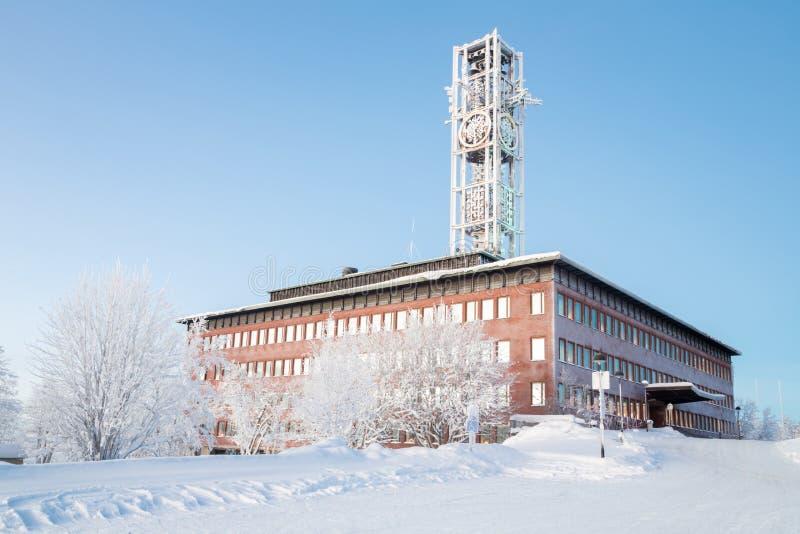 基律纳市政厅瑞典 免版税库存照片