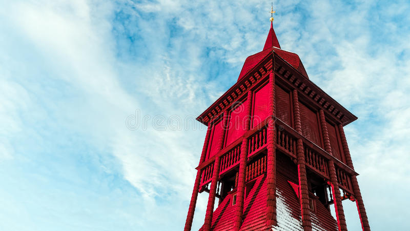 基律纳教堂钟塔 库存照片