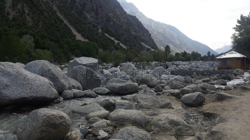 巴基斯坦的山 免版税库存照片