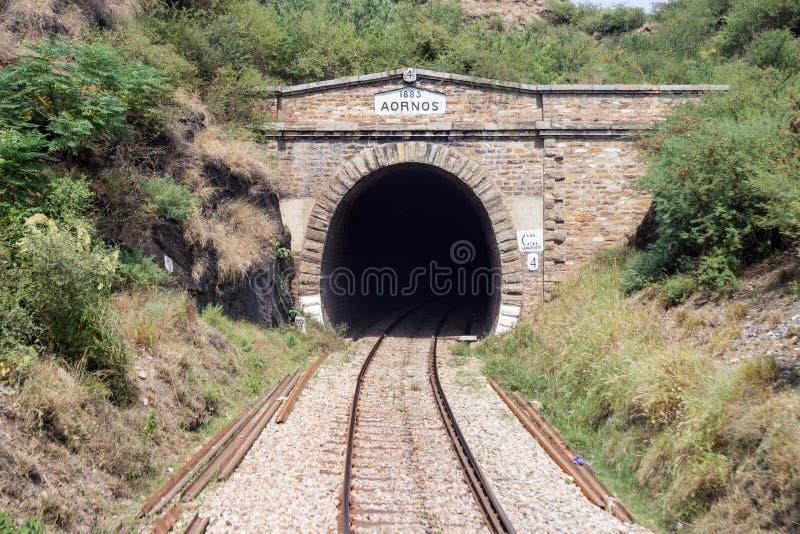 巴基斯坦铁路线没有的桥梁看法:4 Jahangira做了  库存照片