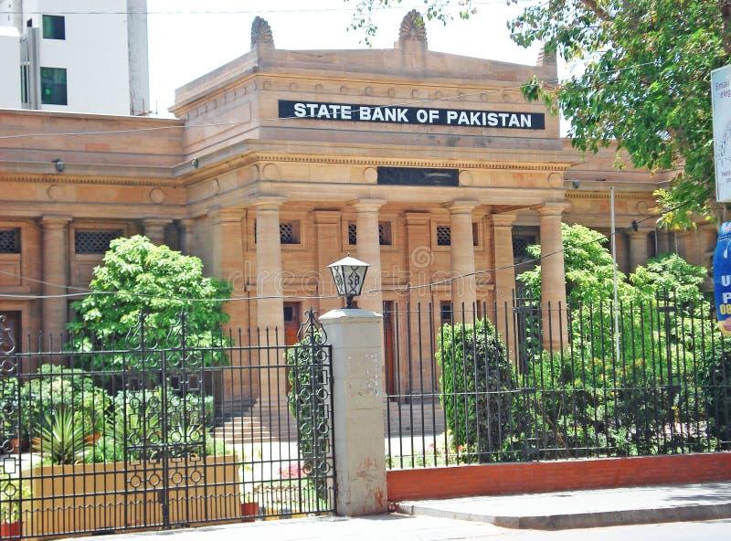 巴基斯坦-美丽的大厦的国家银行在卡拉奇 库存照片