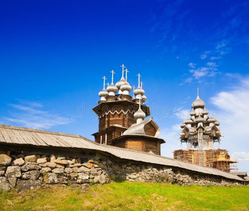 基日岛 修道院风景 免版税库存照片