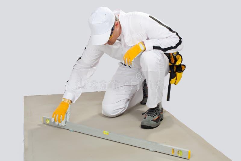 基本水泥检查级别工作者 免版税库存图片