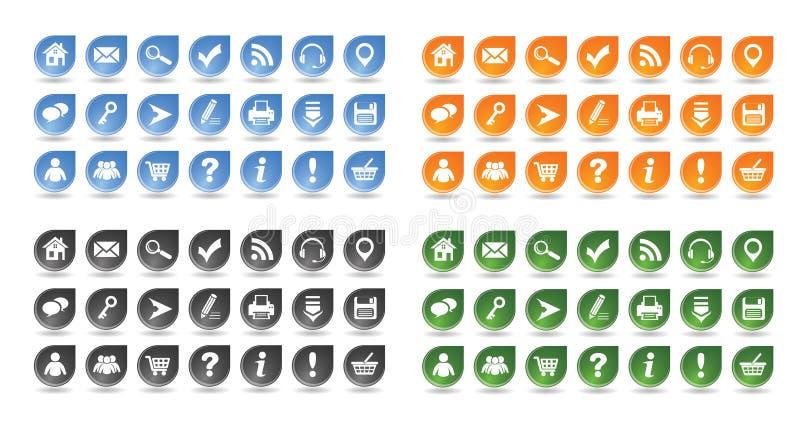 基本的万维网图标设置了#10 库存例证