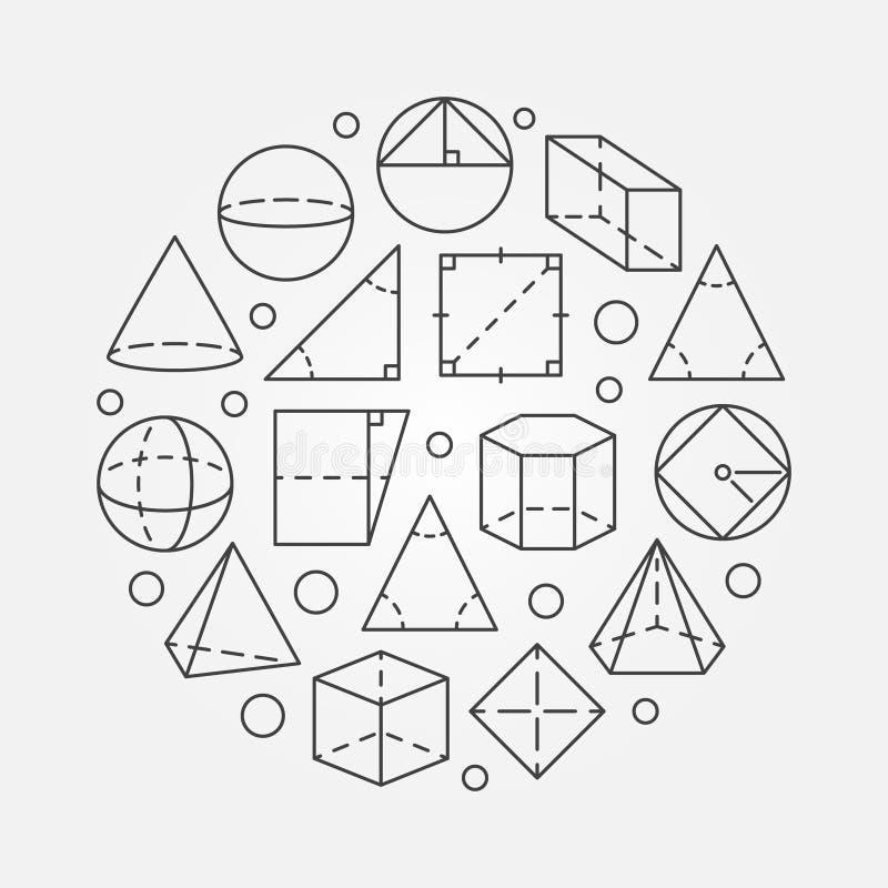 基本的几何例证 皇族释放例证