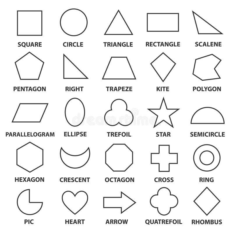基本的几何形状 向量例证