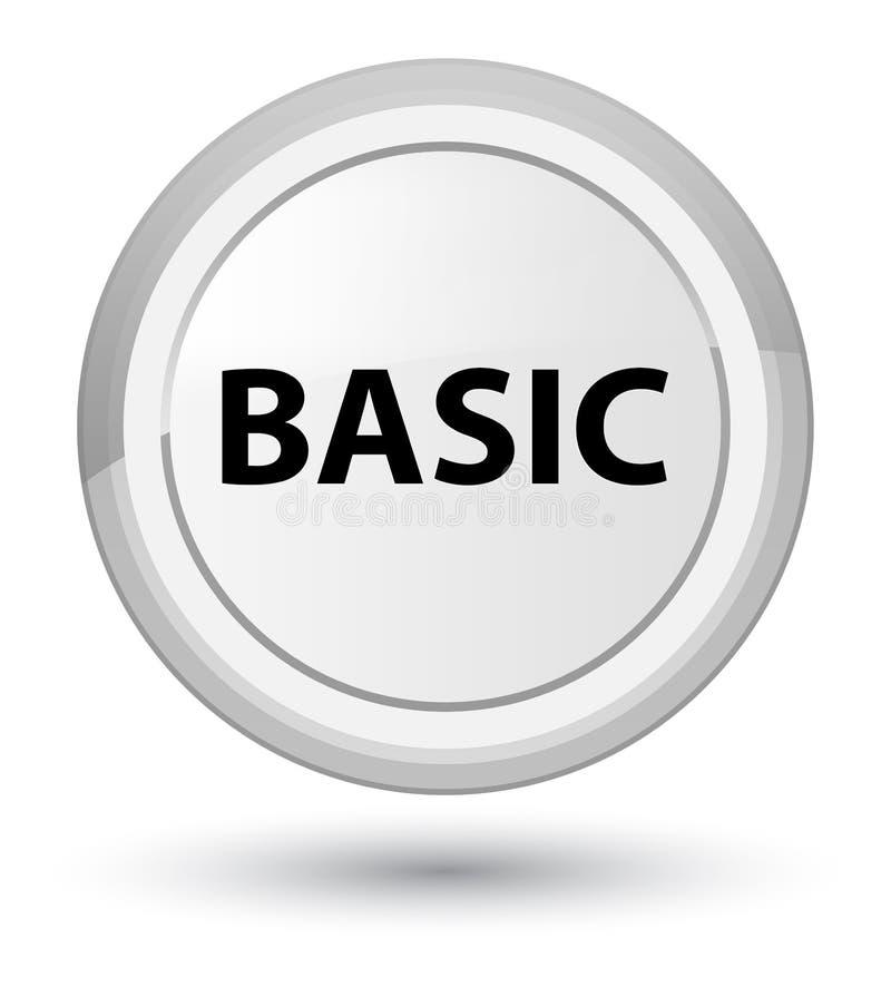 基本的头等白色圆的按钮 向量例证