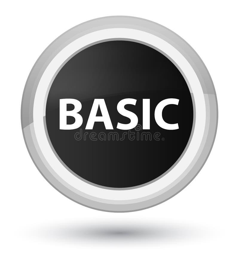 基本的头等黑圆的按钮 向量例证