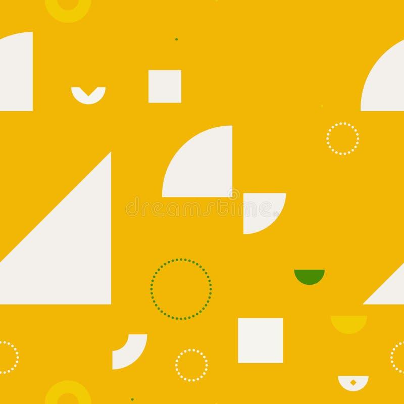 基本的形状混乱无缝的样式 向量例证