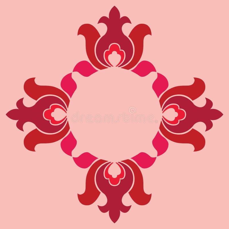 基本的花卉无缝的样式 向量例证