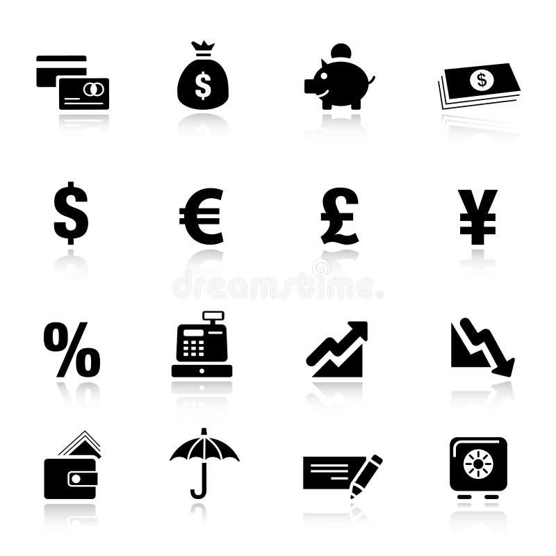 基本的财务图标 向量例证