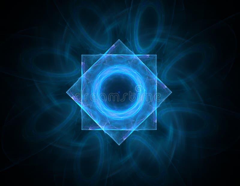 基本粒子系列 抽象分数维互相作用关于核物理科学和图形设计形成 皇族释放例证