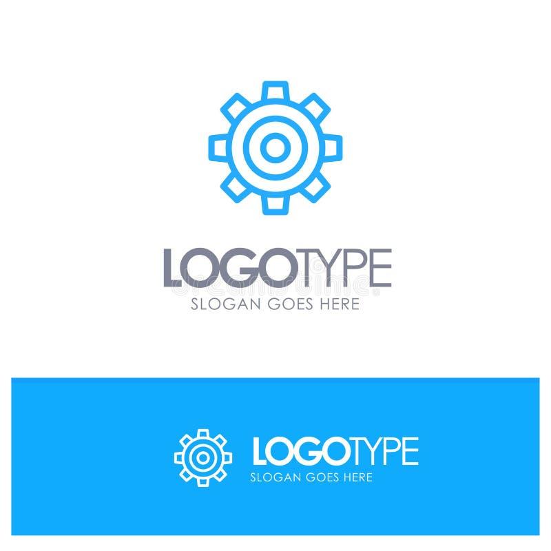 基本,一般,工作,设置,与地方的普遍蓝色概述商标口号的 库存例证
