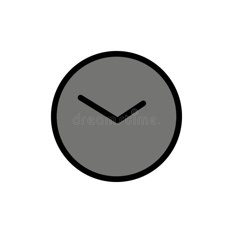基本,手表,时间,时钟平的颜色象 传染媒介象横幅模板 库存例证