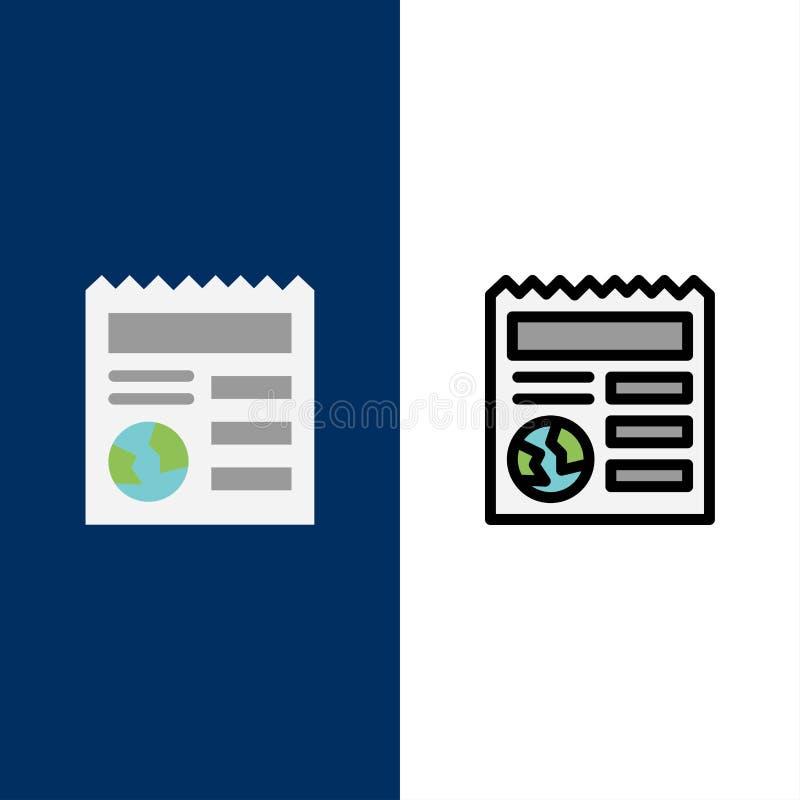 基本,文件,地球,Ui象 舱内甲板和线被填装的象设置了传染媒介蓝色背景 库存例证