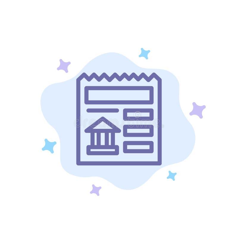 基本,文件,Ui,在抽象云彩背景的银行蓝色象 向量例证
