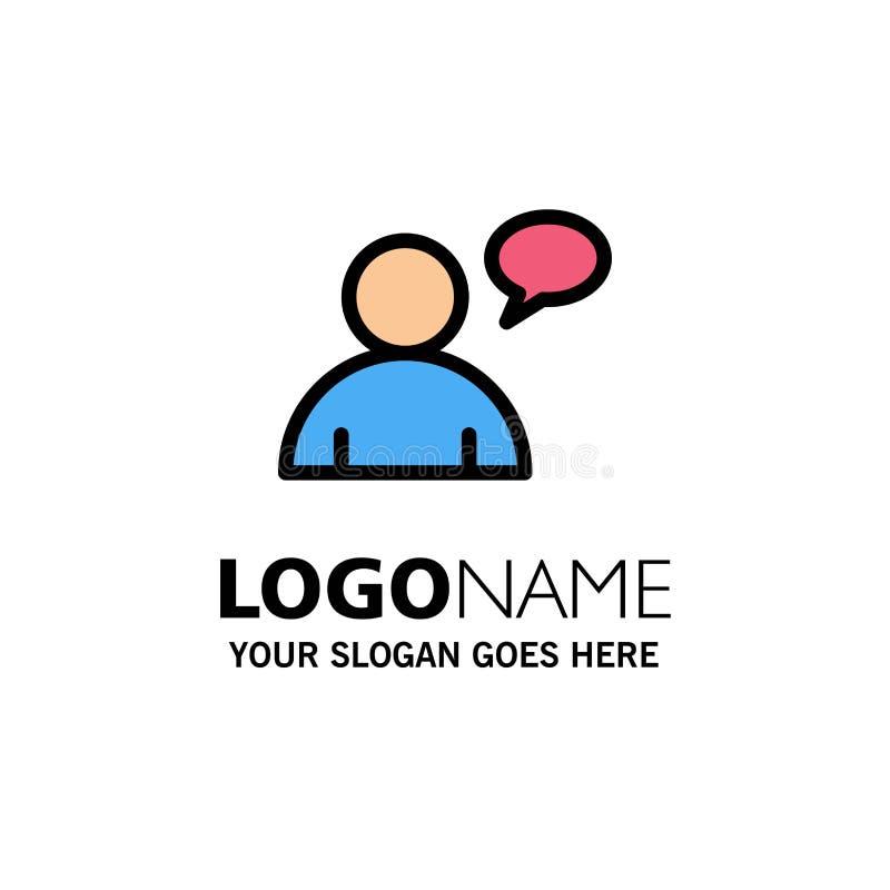 基本,聊天,用户企业商标模板 o 皇族释放例证