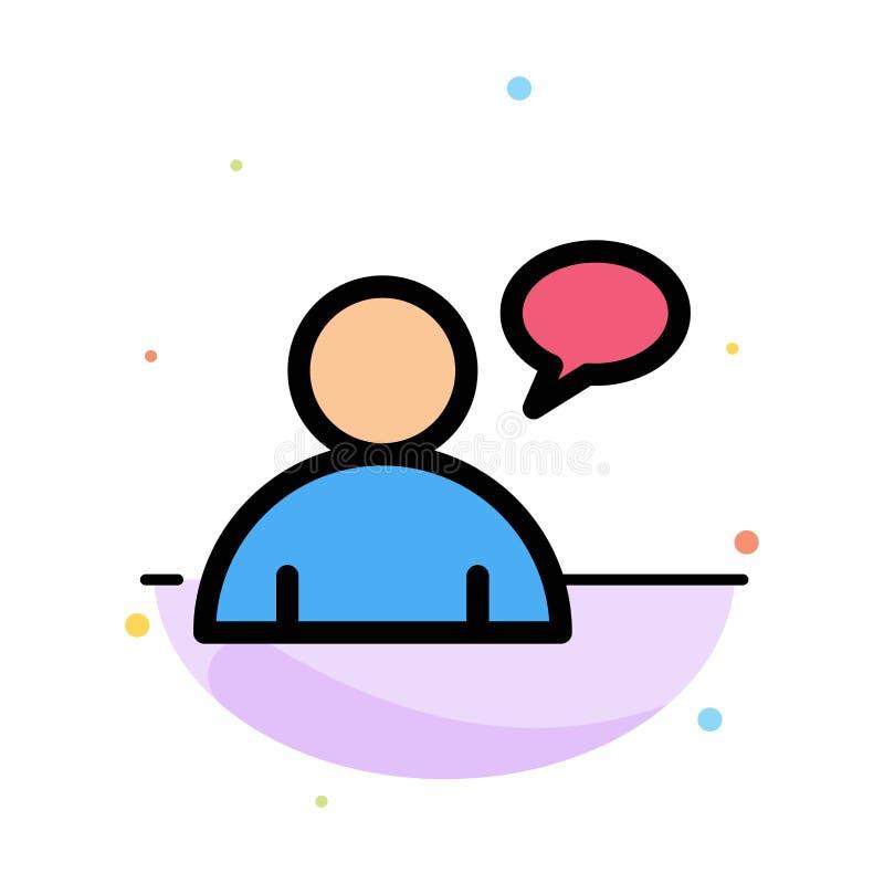 基本,聊天,用户摘要平的颜色象模板 皇族释放例证