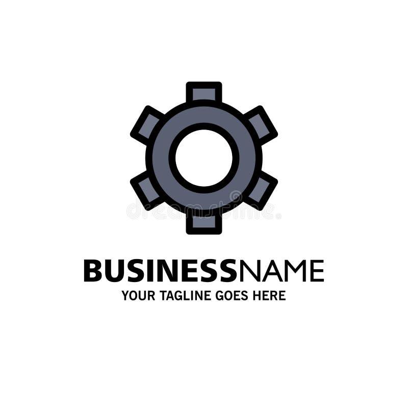 基本,齿轮,设置,Ui企业商标模板 o 库存例证