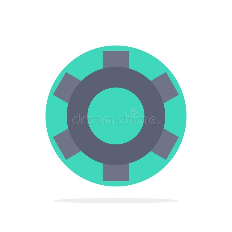 基本,齿轮,设置,Ui抽象圈子背景平的颜色象 库存例证