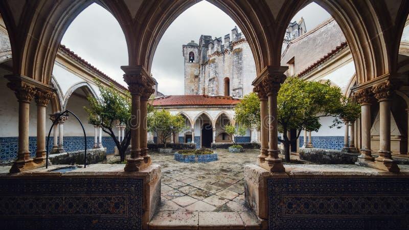 基督、古老templar堡垒和修道院女修道院在托马尔,葡萄牙 免版税库存图片