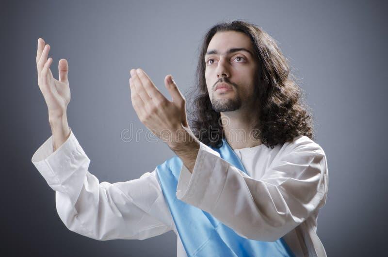基督・耶稣拟人 免版税库存图片