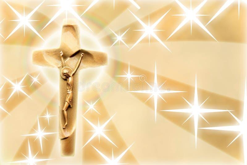 基督・耶稣星形 库存例证