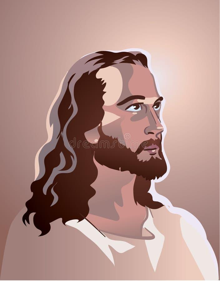 基督・耶稣纵向向量 皇族释放例证